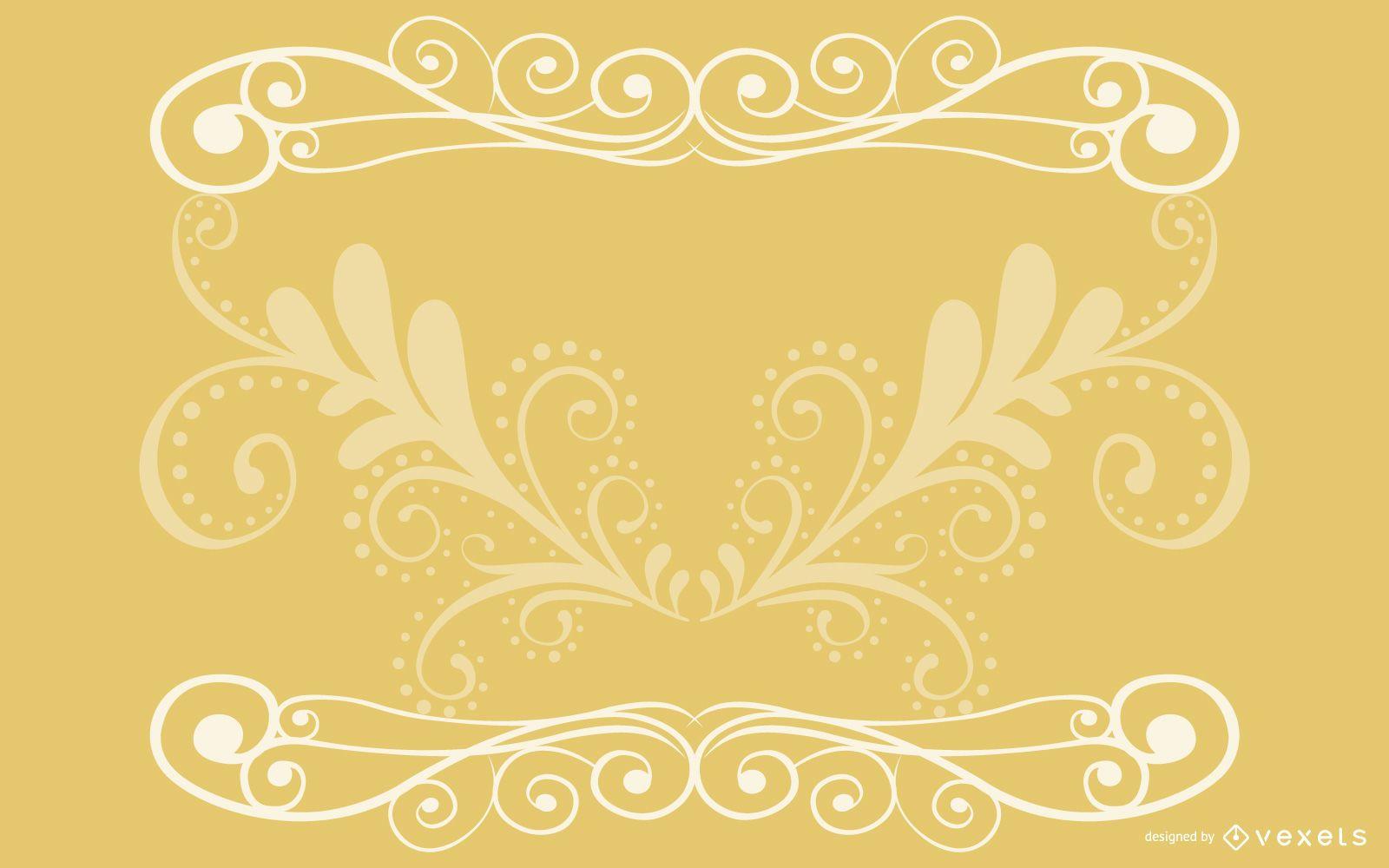 Tarjeta Vintage elegante de remolinos florales