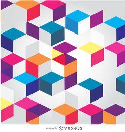 Cubos abstractos fondo poligonal