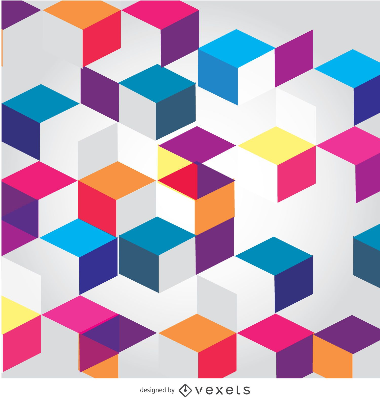 Abstract Cubes polygonal background
