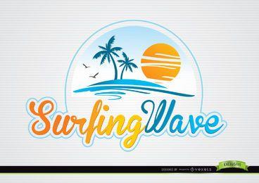 Palms Sun Beach Tipografía Logotipo