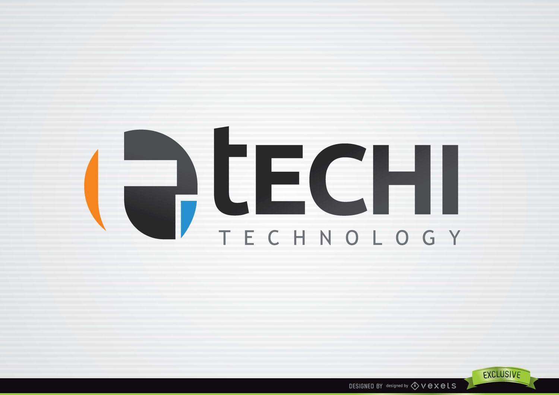 Logotipo de tecnología tipográfica T Circle