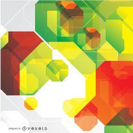 Fondo abstracto octagonal