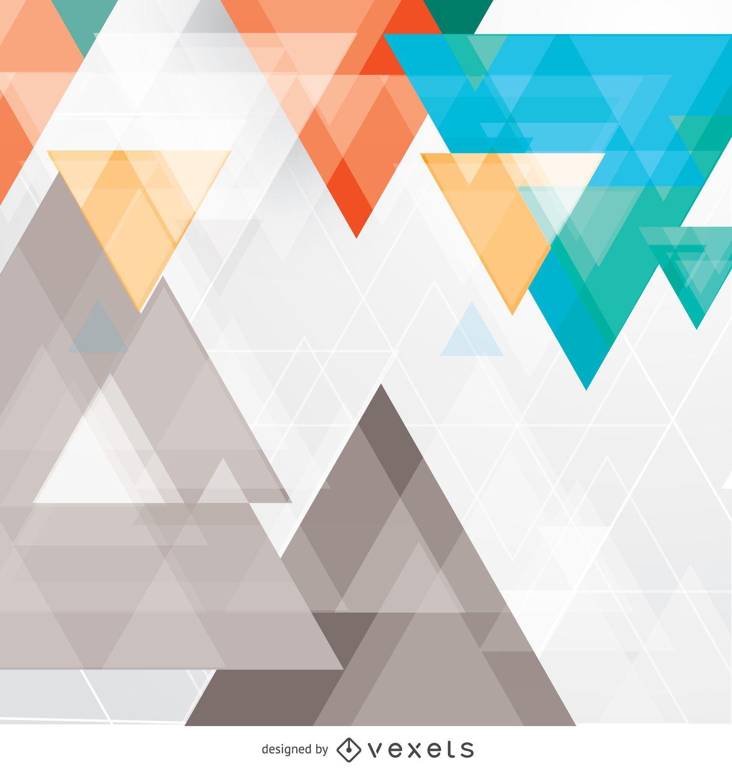 Telón de fondo de triángulos abstractos