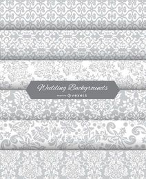 6 wedding floral backgrounds