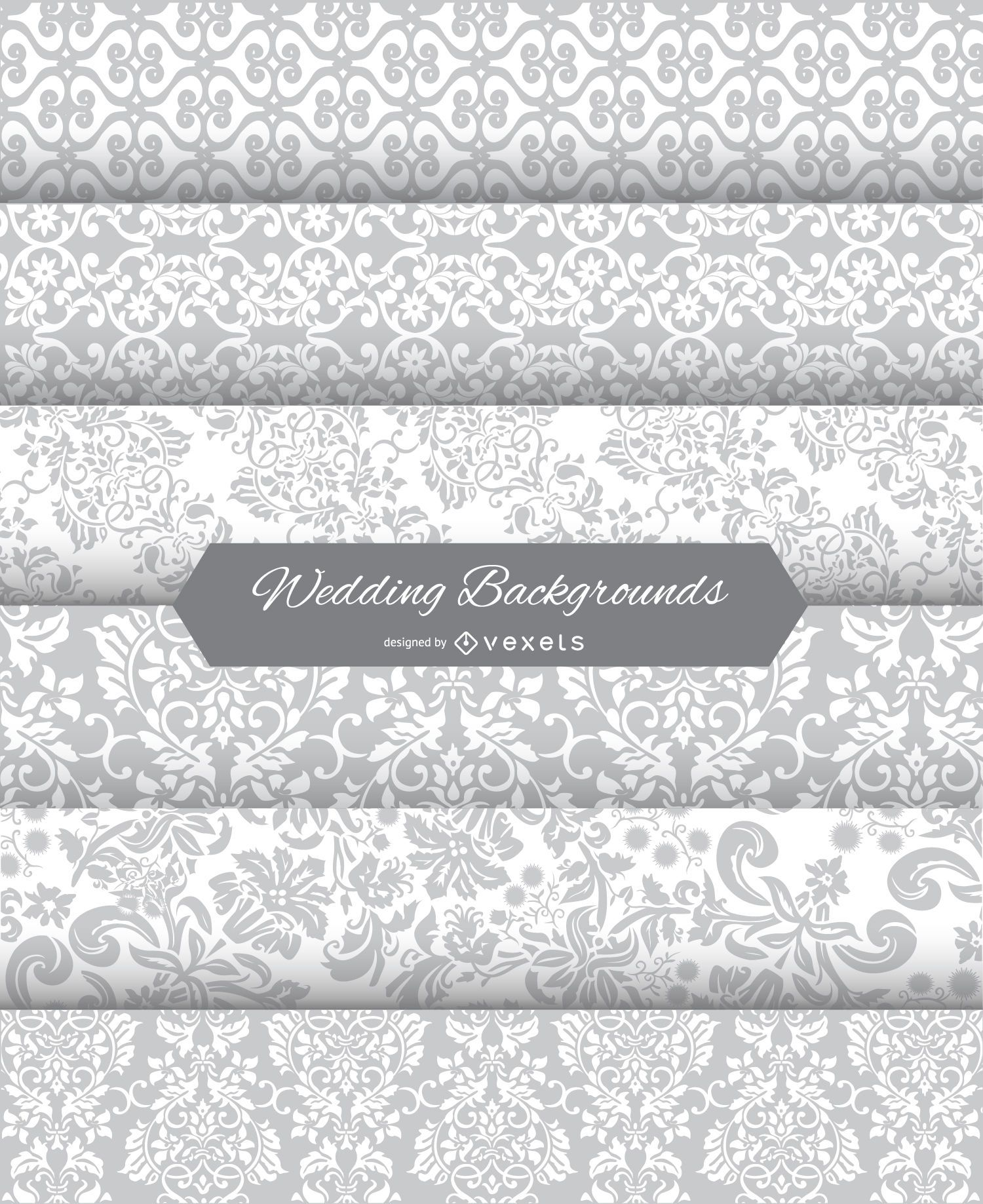 6 wedding floral backgrounds