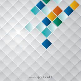Mosaico abstracto fondo cuadrado
