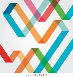 Fondo abstracto con tiras de colores