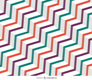 Abstract vintage zig zag background