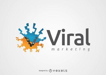 Abstract Rodada Logo Vírus de Marketing