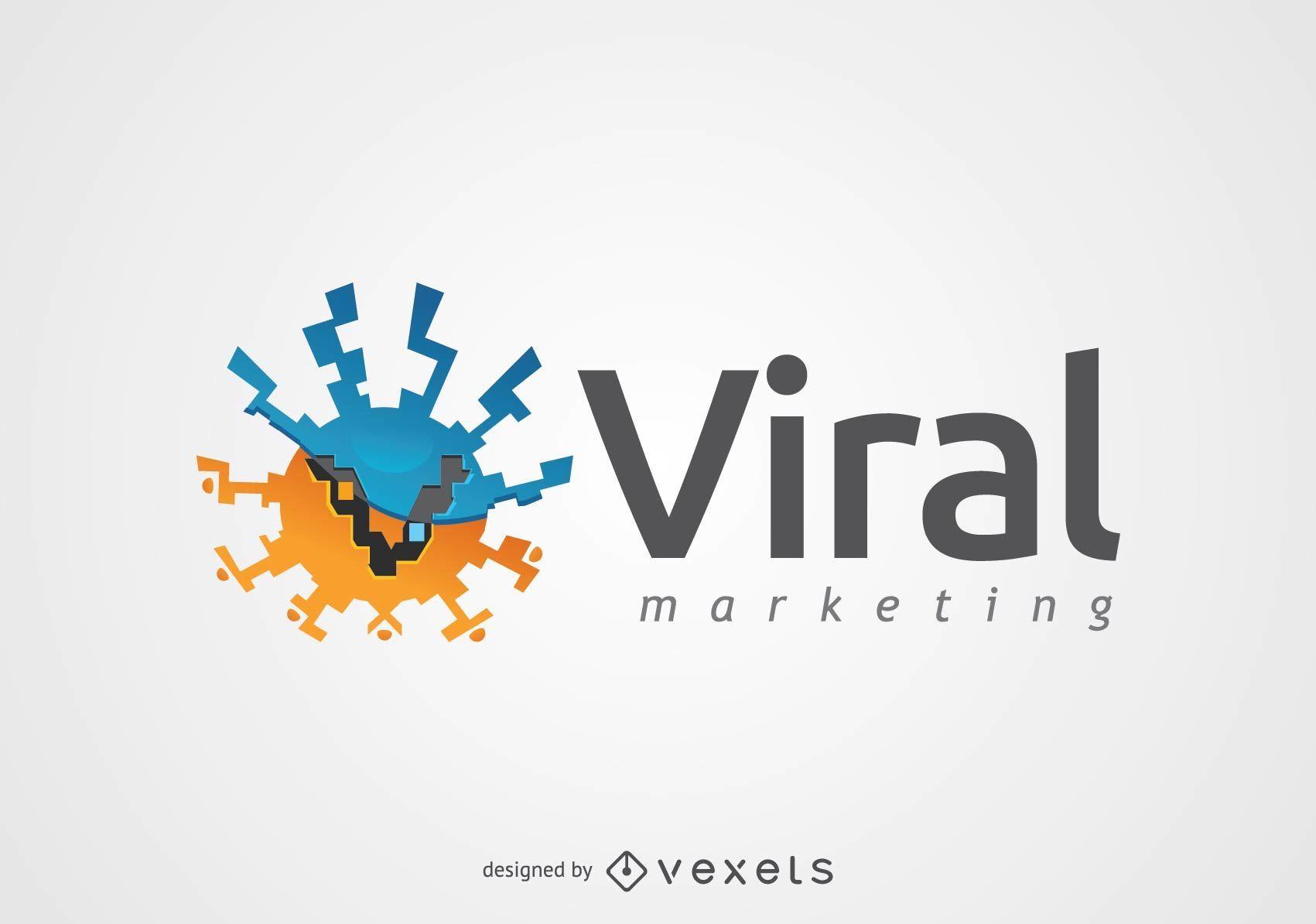 Logotipo de marketing de virus redondo abstracto