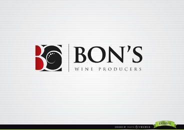 Logotipo de vino cuadrado de Swirls B