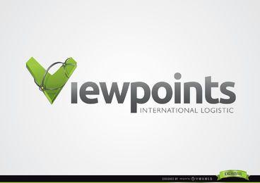 Plantilla de logotipo de tipografía 3D V