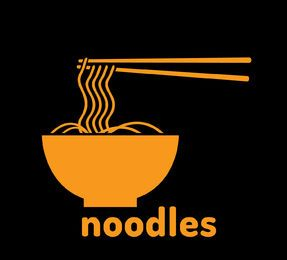 Noodles bowl vector logo