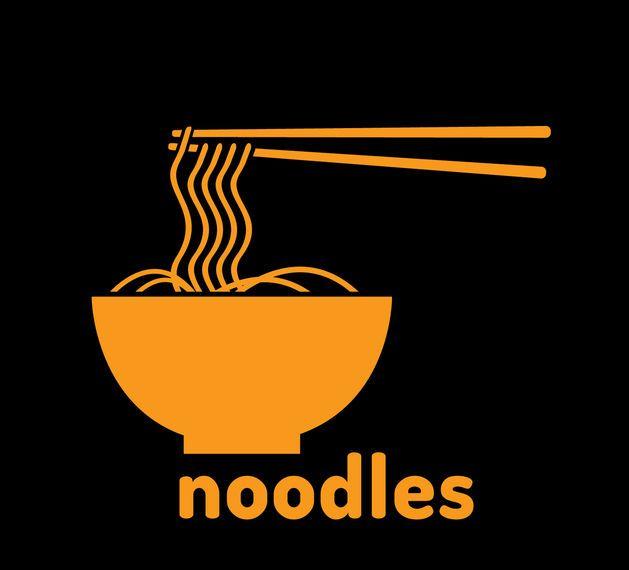 Logotipo de vetor de tigela de macarrão