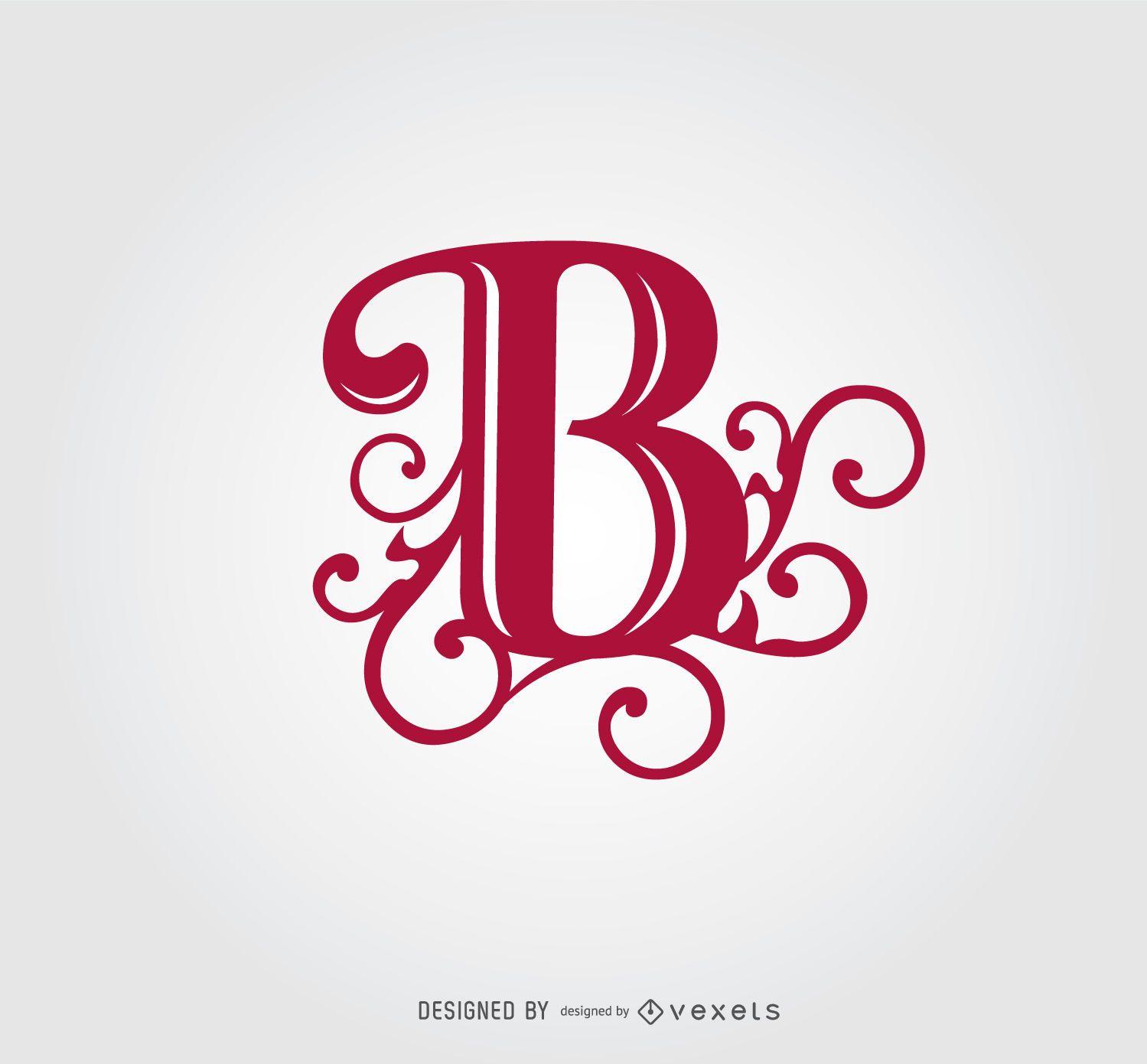 B letter swirls logo template vector download for Logo b b