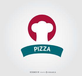Logotipo de la pizza del círculo del sombrero del