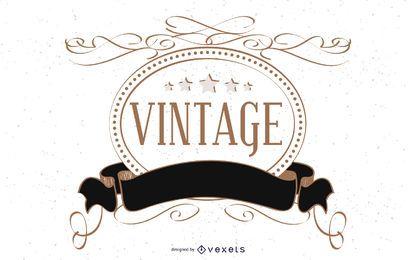 Modelo decorativo de etiqueta vintage,