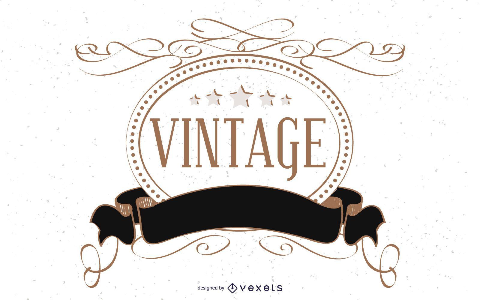 Plantilla de etiqueta vintage decorativa
