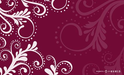 Floral Swirls Velvet Background