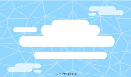 Solução de nuvem fundo azul