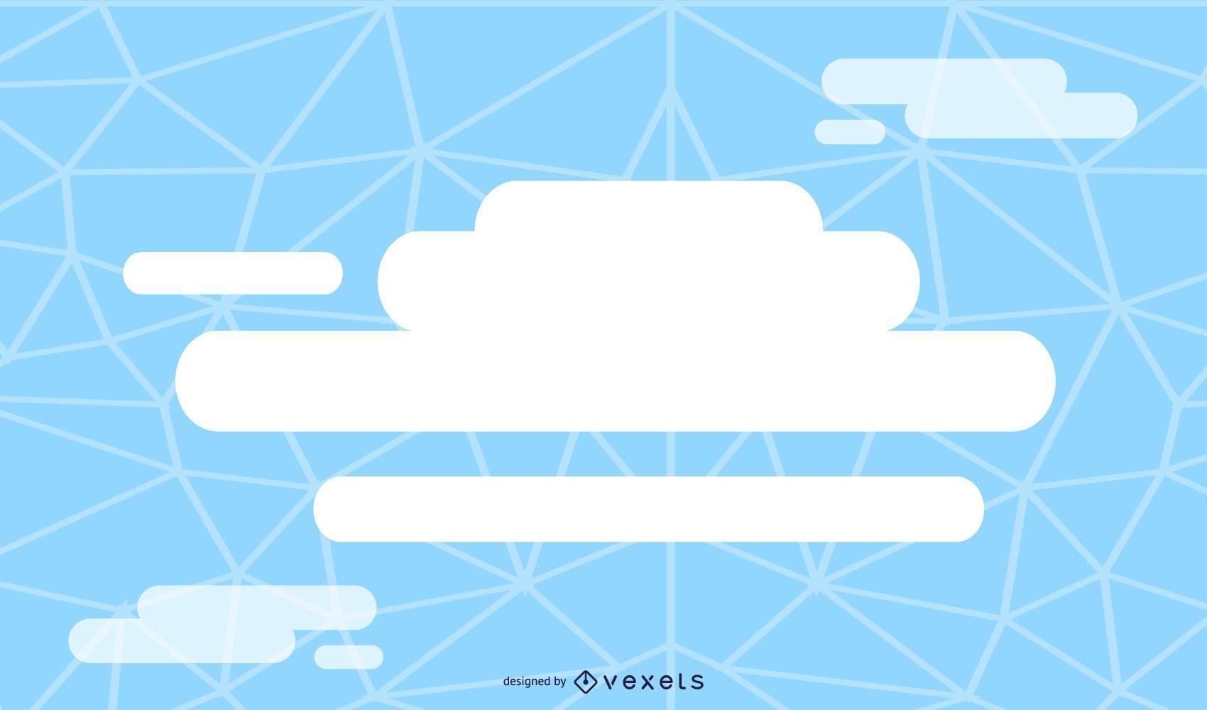 Fondo azul solución nube