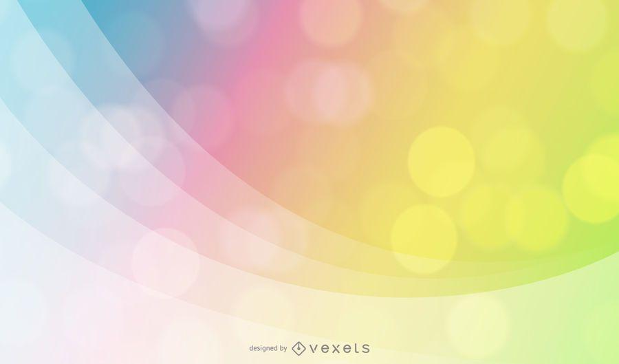 Rainbow Waves Bokeh Background