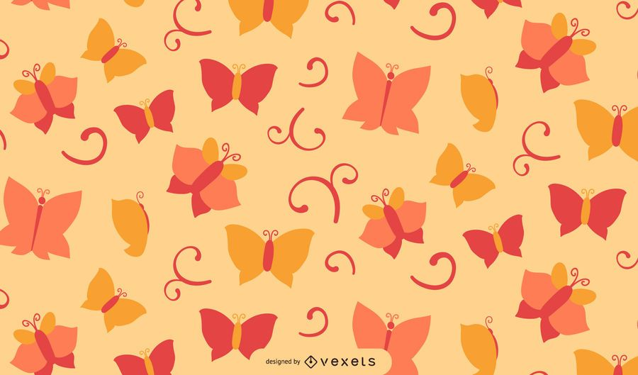 Flouring Swirls Butterfly Abstract Background