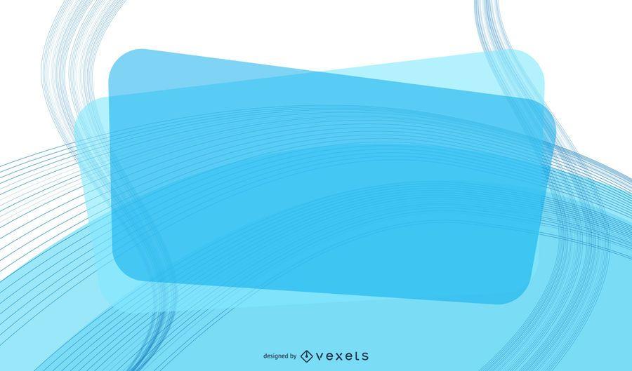 Fondo de negocio de mensaje rectángulo azul