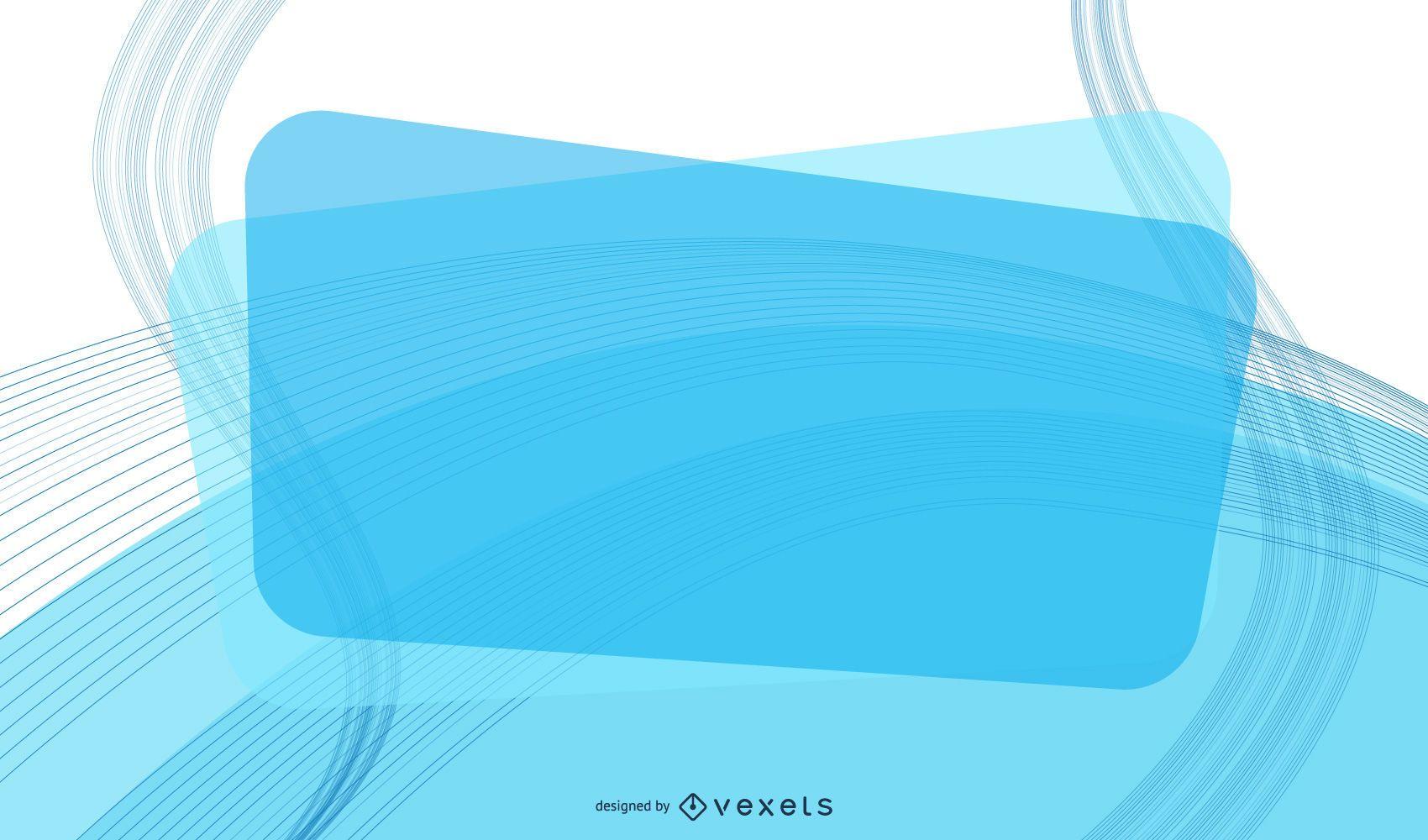 Fundo de negócio de mensagem retangular azul