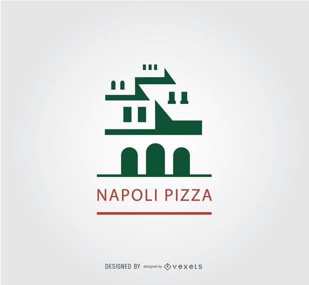 Ancient Napoli Building Pizza Logo