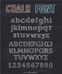 Kreide-Schrift-Alphabet