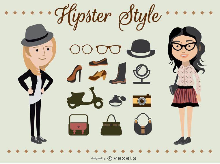 Personajes de Hipster Girl