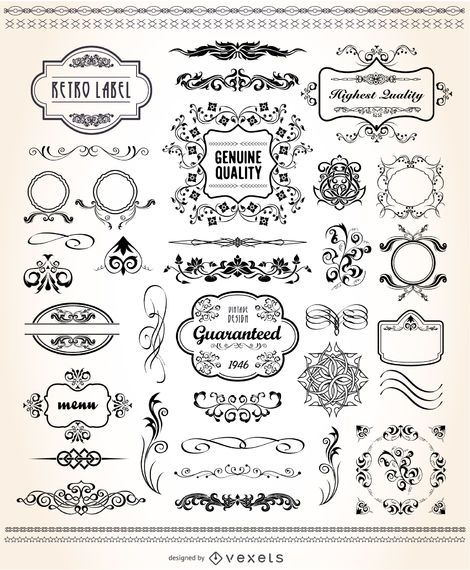 Conjunto gráfico vintage