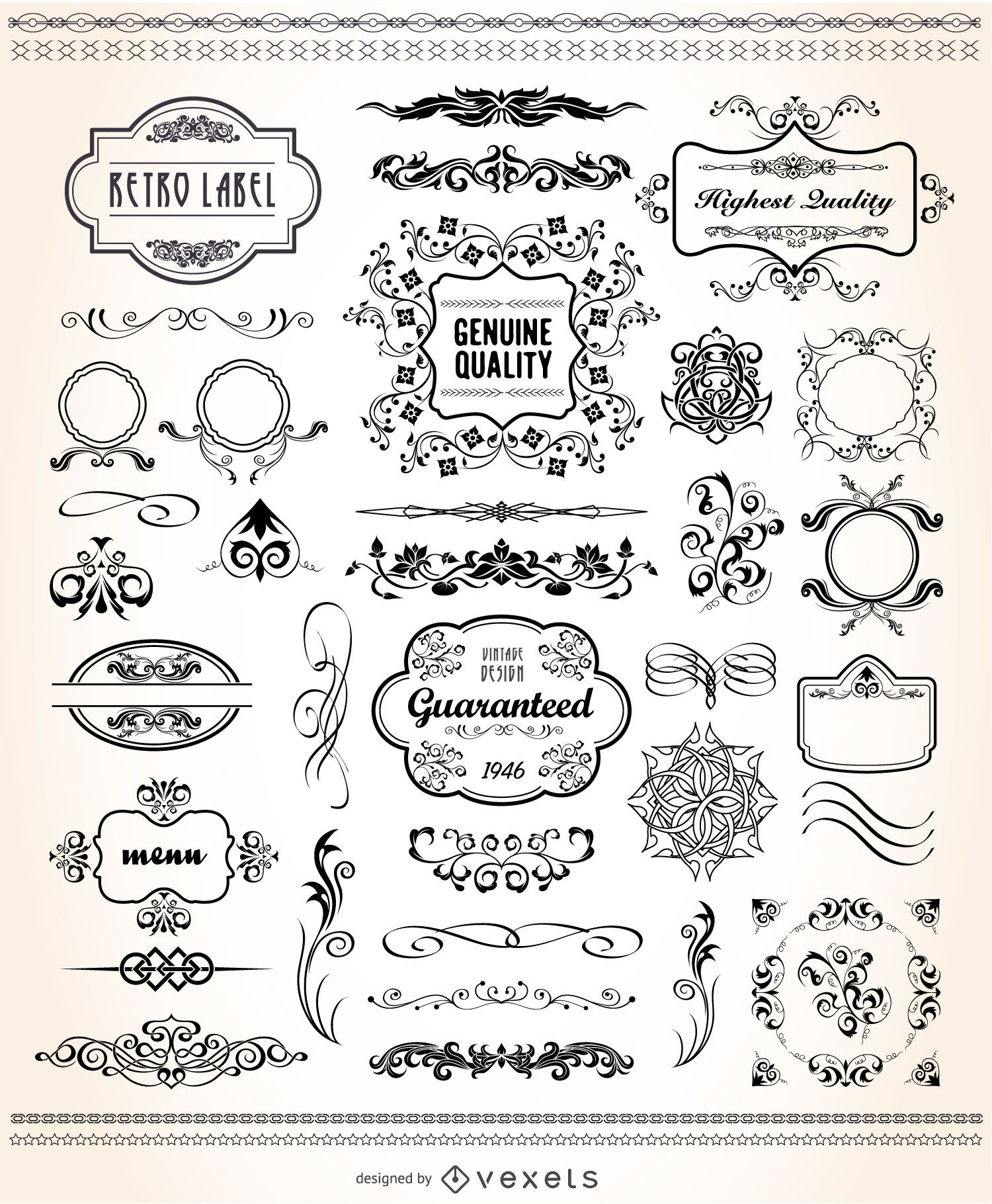 Vintage graphic set
