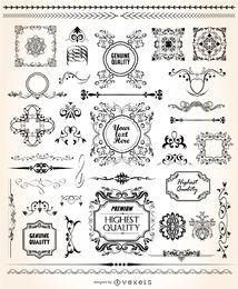Calligraphic ornamental set