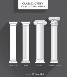 Greek Columns Styles: Toscan, Doric, Ionic and Corinthian