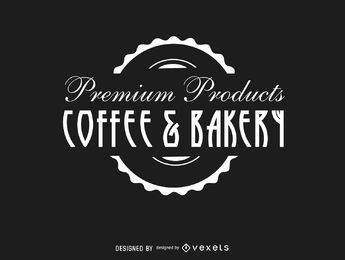 Coffee Bakery Vintage Logo Seal