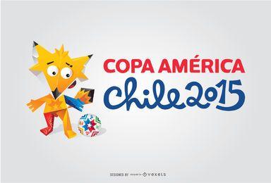 Logo des Maskottchens Copa America 2015