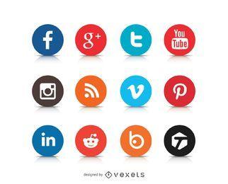 Social Media Ícone Logos