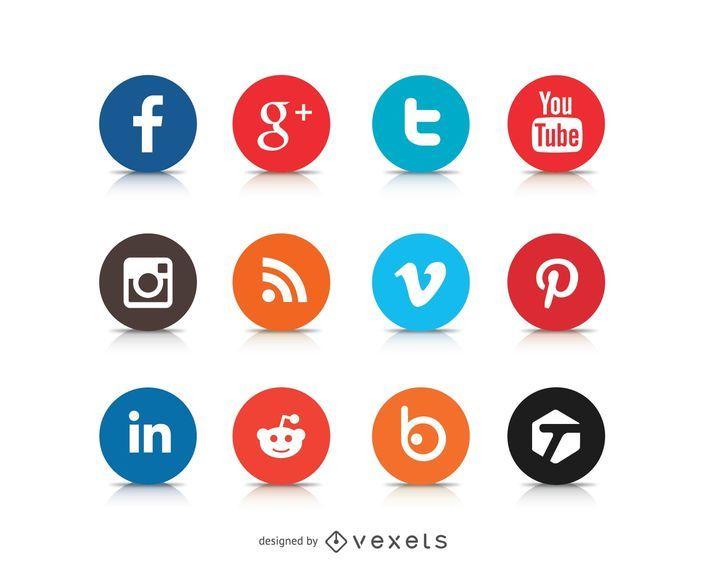 Logotipos de ícone de mídia social