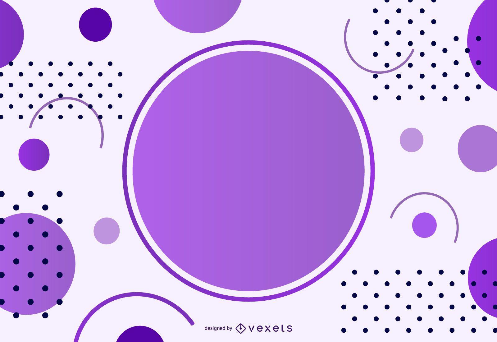 Circular Message Background
