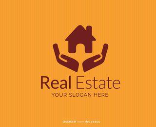 Haus auf Händen Real Estate Logo