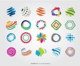 Creativo Círculo Globo Logotipos Coloridos