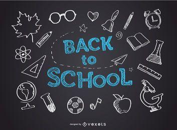 Pizarra de vuelta a la escuela