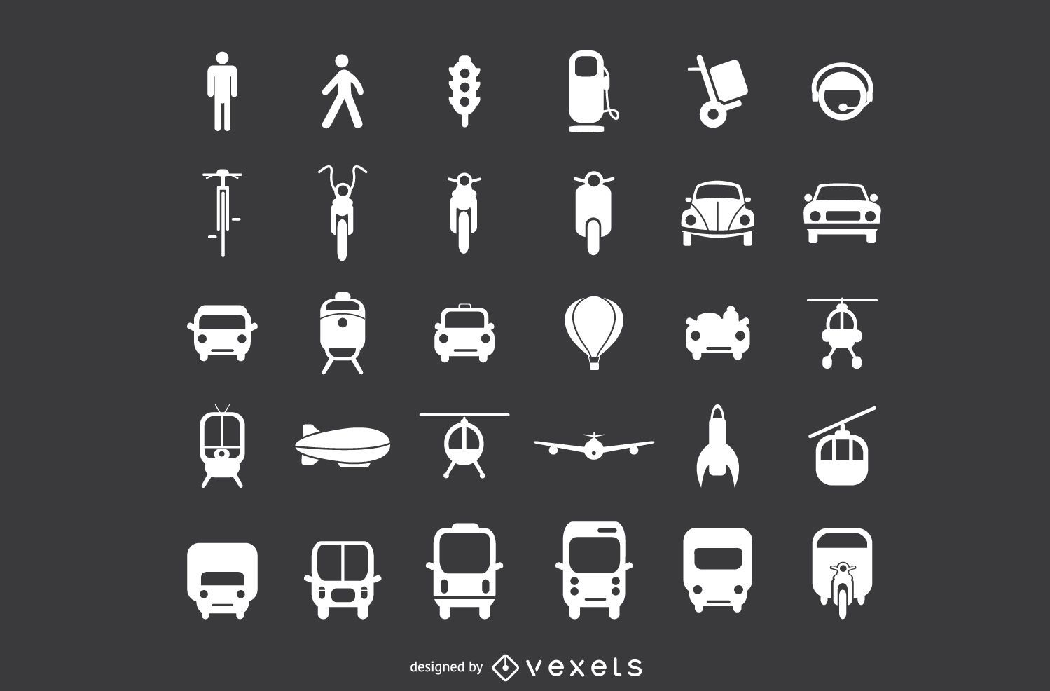 Transport Flat Icon Set
