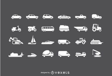 Fahrzeuge Icon Set
