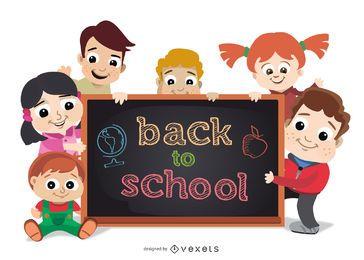 De volta à escola Crianças