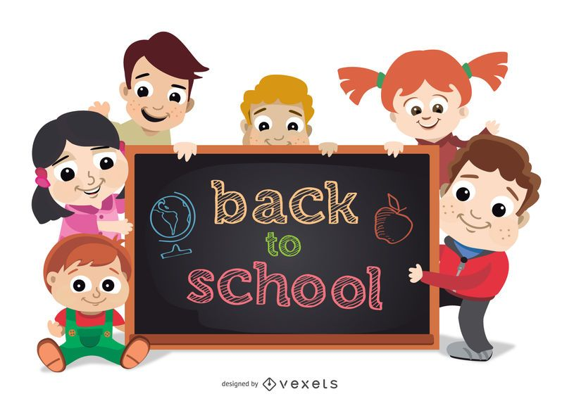 De volta às crianças da escola