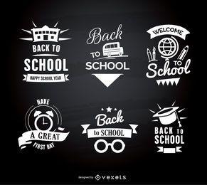 Emblemas de regreso a la escuela