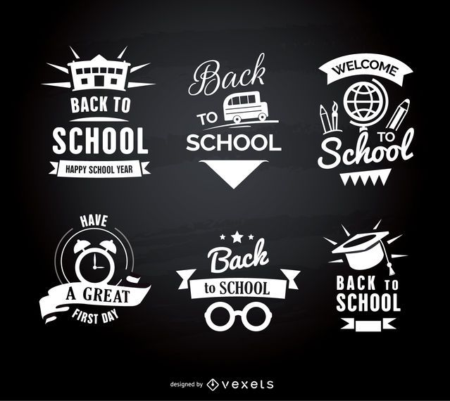 Back to school emblems